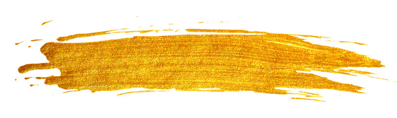 Gold stain isolated on white background.
