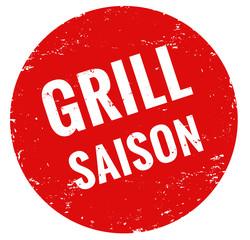 Grill Saison Stempel rot grunge