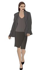Modella abbigliamento donna