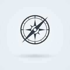 Vector compass icon.