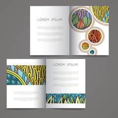 Set of vector design templates. Magazines in random colorful style. Vintage backgrounds.