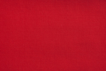 Close up of a red fabric textile texture