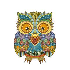 Canvas Prints Owls cartoon Vector zentangle owl illustration. Ornate patterned bird.