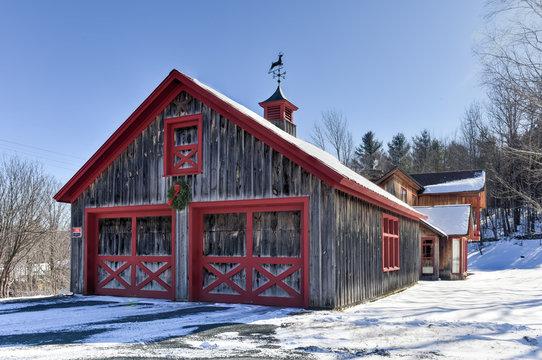 Barn in Winter - Vermont