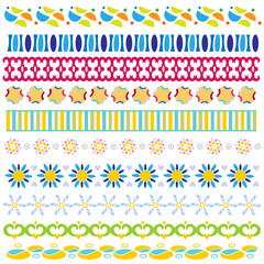 Colorful trim or border collection