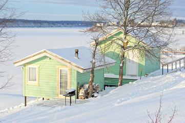 winter view of farm buildings - bath