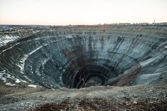 "Kimberlite pipe ""Mir"" - indigenous diamond deposits."