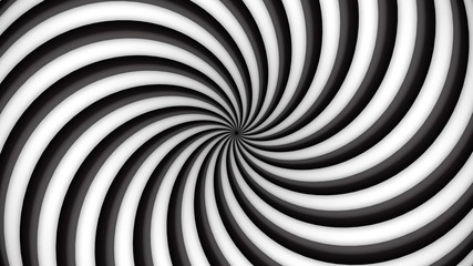 Black and white rotating hypnosis spiral (seamless loop)