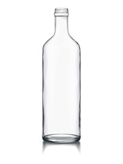 Empty Glass Bottle Mock-up Change Color