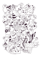 Funny doodle vector