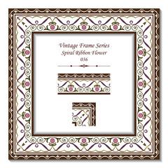 Vintage frame 036 Spiral Ribbon Flower