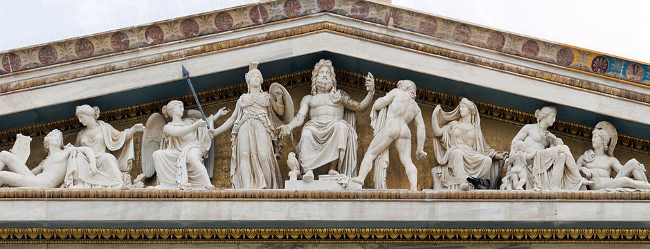 Zeus, Athena and other ancient Greek gods and deities