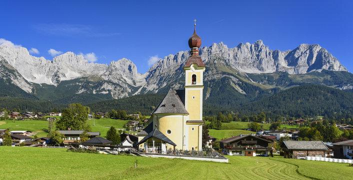 Panorama am Wilden Kaiser in Tirol - Going