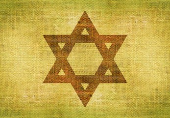 Star of David on Canvas