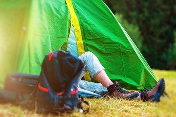 Wilderness Tent Camping