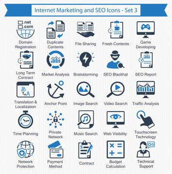 Internet Marketing and SEO Icons - Set 3
