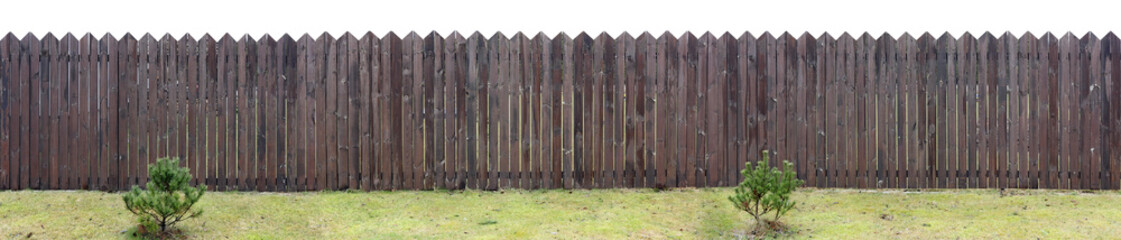 Very long brown fence