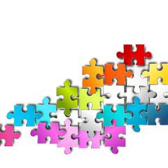 puzzle Hintergrund bunt regenbogen verbindung