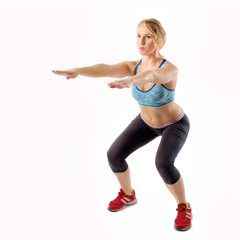 Fitness Woman Squat Exercisie