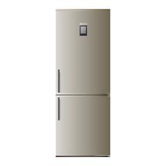холодильник на белом фоне