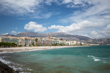 Tuinposter Algerije Coastal Line Seascape