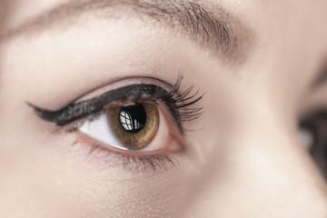 makeup eyes closeup