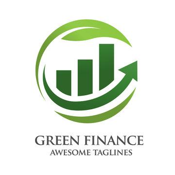 green finance logo design