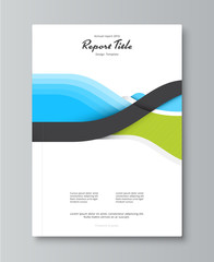Annual report cover design. book, brochure template with sample