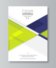 Abstract annual report cover design. book, brochure template wit