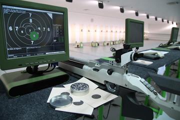 air rifle and 10m target monitor