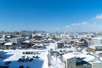 湯の川温泉からの函館市街風景