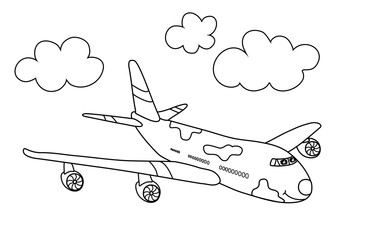 Flugzeug (Malvorlage)