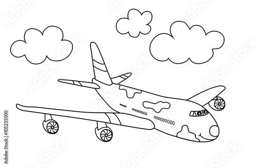 Flugzeug Malvorlage Stockfotos Und Lizenzfreie Bilder Auf Fotolia