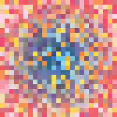 Vector background pattern in a pixel art style