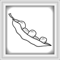 Simple doodle of a pea pod