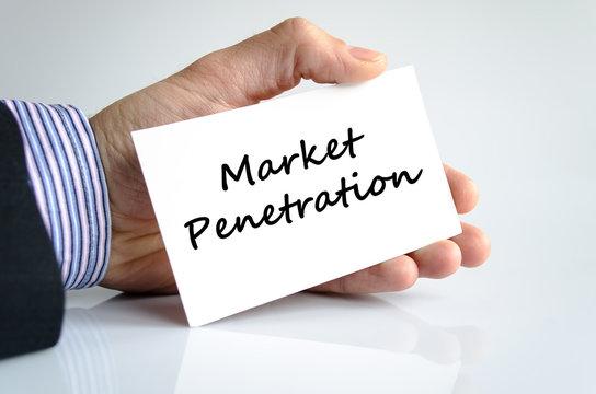 Market penetration text concept