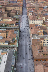 "Cityscape view from ""Due torri"" or two towers, Bologna, province"
