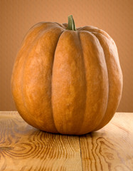 image of a ripe pumpkin closeup