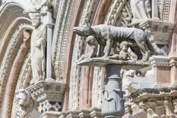 Siena Cathedral is a medieval church built in Romanesque and Got