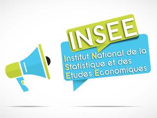 mégaphone : INSEE