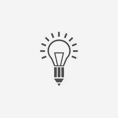 light bulb pencil icon