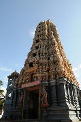 Hindu temple on the island.