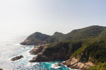 高知県土佐清水市 鵜の岬展望台からの風景