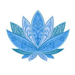 vector blue lotus