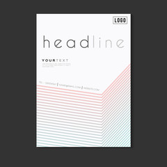 Abstract Minimalism Geometric Design Vector Template Layout For Magazine ,Brochure ,Flyer ,Booklet ,Cover ,Annual Report