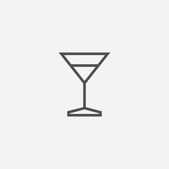alcohol glass outline, thin, flat, digital icon.