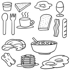 vector set of breakfast