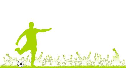 Fußballer und Fans