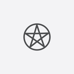 pentagram icon on white background