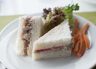 club sandwich closeup